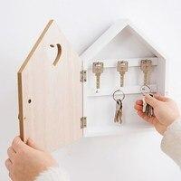 Caixa de armazenamento de chave de entrada  pode pendurar na parede  madeira  decorativa  caixa de armazenamento  gancho de parede  casa»