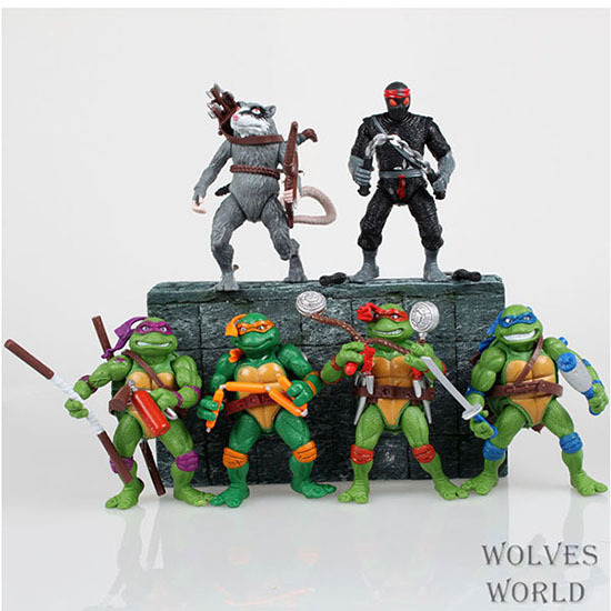 Free shipping 6 pieces lot Teenage Mutant Ninja Turtles Action font b Figure b font 4