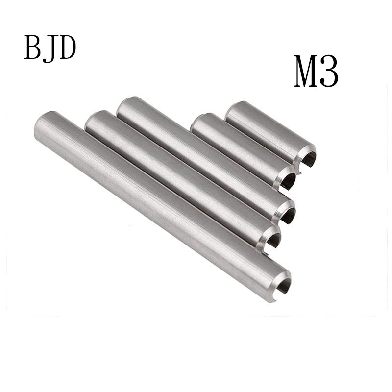 100pcs GB879 M3x4-50mm stainless steel positioning spring elastic cylindrical Cotter pin Dowel Tension Roll Pin steel casing pipe
