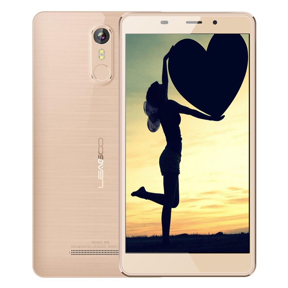 Цена за Leagoo m8 5.7 дюймов 3 г смартфон android 6.0 mtk6580 quad core 1.3 ГГц мобильного телефона 2 ГБ + 16 ГБ 13.0mp ips 2.5d отпечатков пальцев мобильный телефон