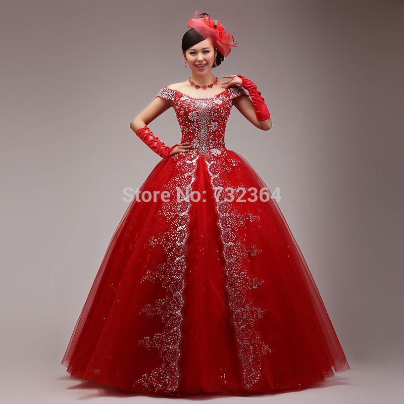 full rhinestone red queen medieval dress sissi princess Medieval ...