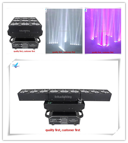 A- 6xDMX512 9x15W RGBW Head Moving Rotatable LED Spider Stage Beam Light Effect Lamp Color Changing Sound Activated Auto Running