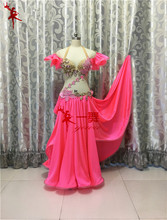 Bellydance oriental Stomach Indian gypsy dance dancing costume costumes garments bra belt chain scarf ring skirt gown set swimsuit 226