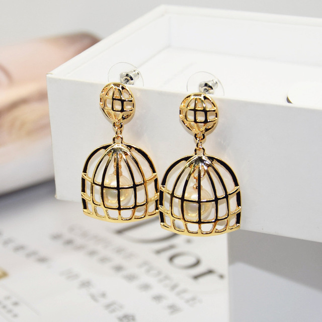E1 Cage Pearls Famous Luxury Brand Designers Big Jewelry Charm