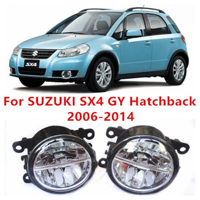 For SUZUKI SX4 GY Hatchback  2006-2014 10W Fog Light LED DRL Daytime Running Lights Car Styling lamps suzuki sx 4 4d 2006