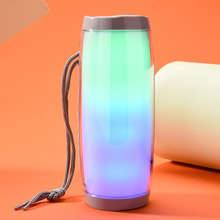 лучшая цена Colorful Portable Led Bluetooth Speaker Wireless Loudspeakers Super Bass With Flashing Lights Tf Usb Fm Hifi Stereo Speaker