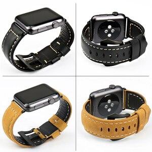 Image 5 - MAIKES New vintage cinturini in pelle per iwatch braccialetto Apple watch band 44mm 40mm 42mm 38mm serie 4 3 2 1 cinturino di vigilanza
