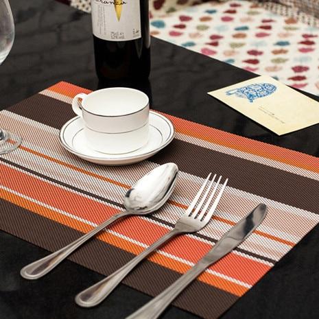 4 teile / los Weihnachten Tischsets PVC Tischset Bar Matte 30 * 45 cm - Küche, Essen und Bar - Foto 3