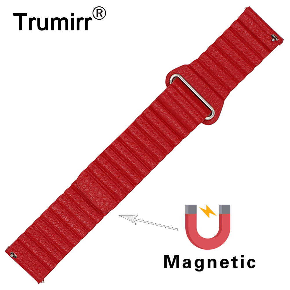 18mm 20mm 22mm 23mm 24mm Genuine Leather Watch Band for Tissot T035 <font><b>PRC</b></font> <font><b>200</b></font> T055 T097 Magnetic Buckle Strap Belt Bracelet image