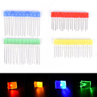 100pcs 2x5x7mm Rectangular Square LED Emitting Diodes Light LEDs Bulbs Yellow/Red/Blue/Green