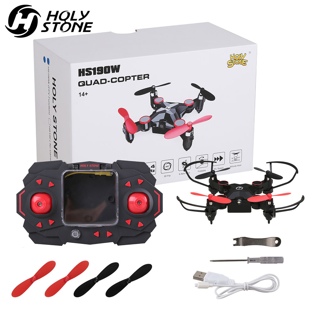 Holy Stone HS190 Foldable Mini RC Drone for Kids Gift Portable Pocket Quadcopter Altitude Hold 3D Flips Helicopter ToysHoly Stone HS190 Foldable Mini RC Drone for Kids Gift Portable Pocket Quadcopter Altitude Hold 3D Flips Helicopter Toys