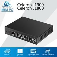 Mini PC Quad Core Tablet Fanless 4 LAN Router Firewall Celeron J1800 J1900 Windows 10 8