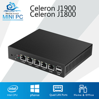 Mini PC Quad Core Tablet Fanless 4 LAN Router Firewall Celeron J1800 J1900 Windows 10 8