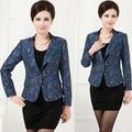 Nova Marca Mulheres de Meia Idade Mãe Roupas Plus Size 5XL Blazer 40-50-60-Year-Old Long-Sleeved Moda Jaqueta de Renda Terno Q1655