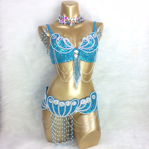Image 3 - made to measure new belly dance costume set BRA+belt+NECKLACE  3piece/ set ,any size,34/36/38/40/42 B/C/D/DD