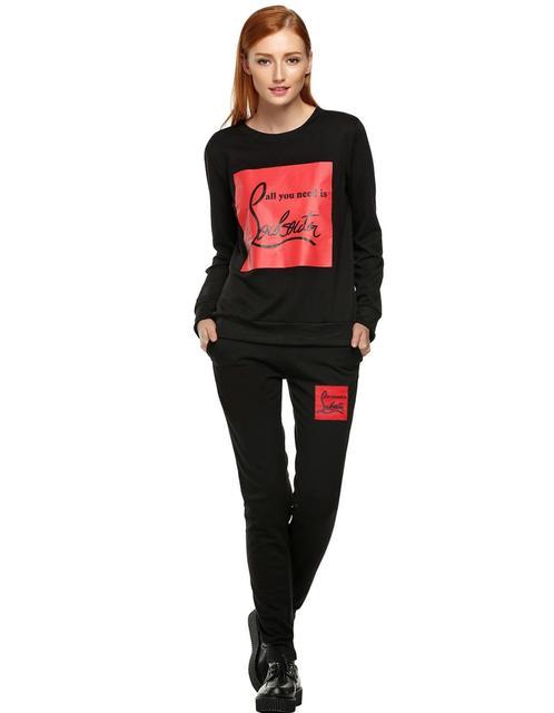 2016 Осень мода новый почтовый ящик печати кампания костюм шею свитер свободные свитера из двух частей