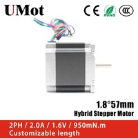 Nema 23 Stepper Motor 57mm 2PH 2A 950m.Nm Nema 23 Hybrid Stepper Motor for 3D Printer Medical equipment CNC
