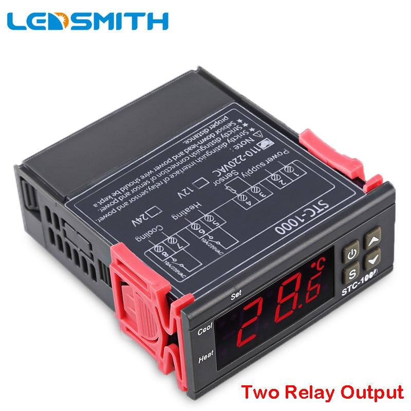 LEDSMITH LED Digitale Temperatur Controller STC-1000 12 v 24 v 220 v Temperaturregler thermostat Mit Heizung Und Kühler