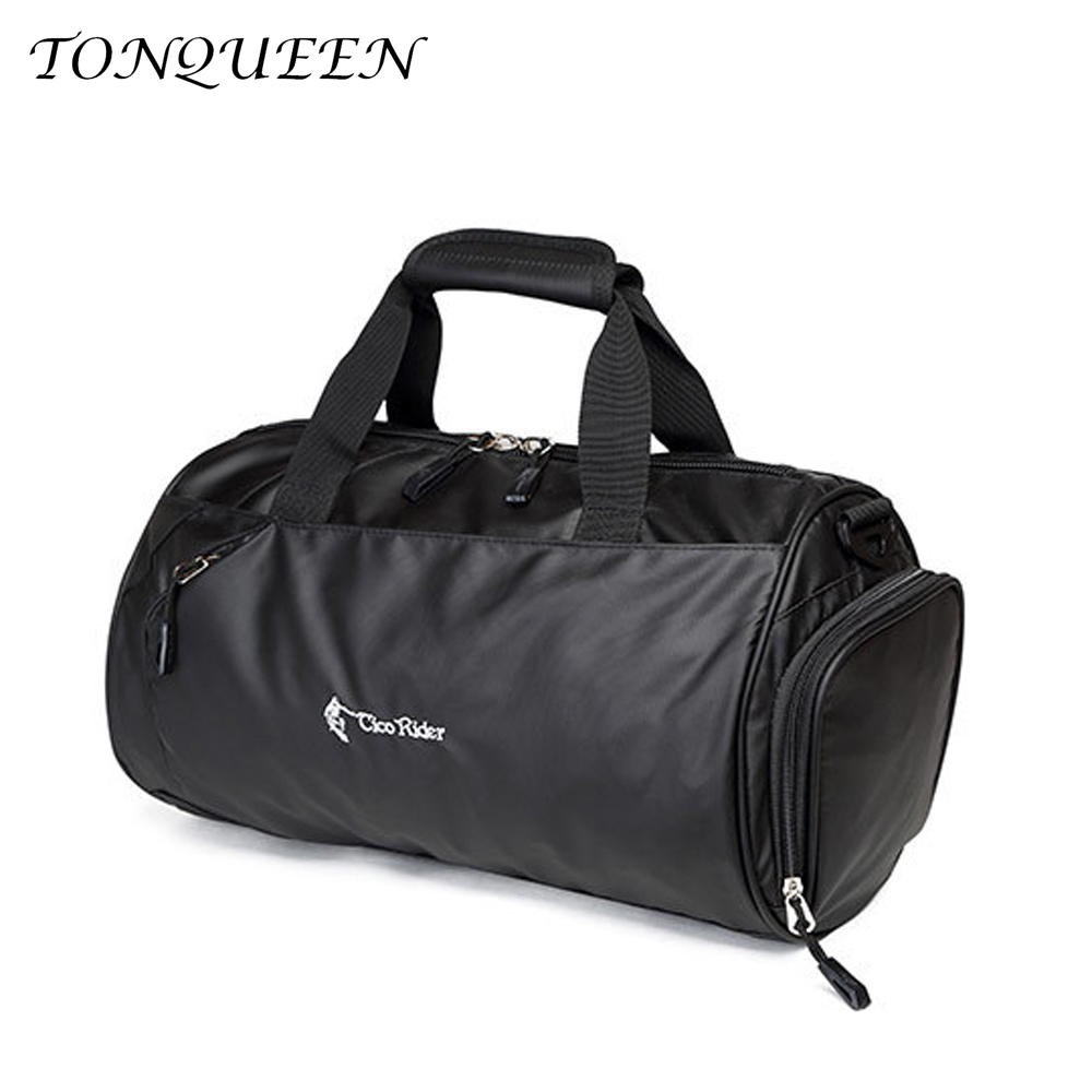 Men's Gym Sports Bag Soft Waterproof Nylon Women Fitness Bag Yoga Outdoor Travel Bags With Shoes Pocket Wx093