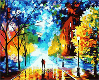 Beautiful Life Scenery DIY Painting By Numbers Handpainted Oil Painting Living Room Home Wall Sticker 40x50cm