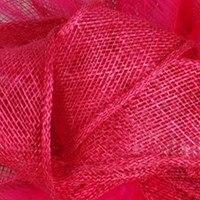 Элегантные шляпки из соломки синамей с вуалеткой хорошее Свадебные шляпы высокого качества черного цвета Клубная кепка очень хорошее 17 цветов MSF099 - Цвет: magenta