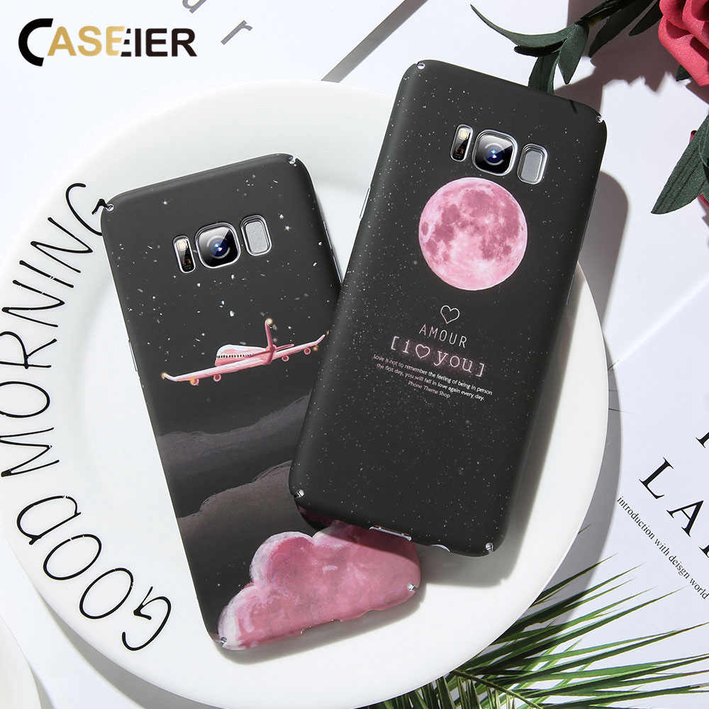 CASEIER Phone Case For Samsung galaxy S10 Plus Mate 10 A7 2018 Star Moon Phone Bag For Samsung S8 Note 8 A7 J6 A8 J4 PLUS 2018