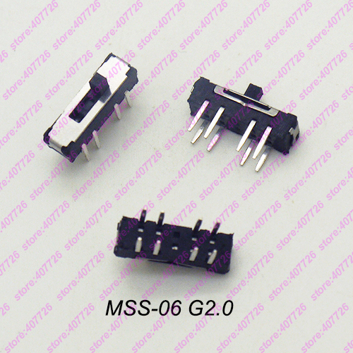 10PCS-500PCS High Quality Interruptor Micro Slide Switch 8Pin 3Positons DIP PCB Mount Toggle Switch Handle MSS-06 G=2MM