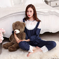 2016 Verano 100% Algodón Pijama Femme Casa Cothing Pigiami Entero de Encaje Sexy Pijamas Mujer Feminino Pijama Pijama Mujeres ropa de Dormir