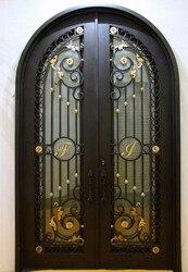 Custom 38 x96wrought iron doors front doors iron entry doors hench-d11