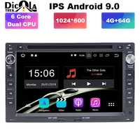 4G+64G PX6 IPS HD Android 9.0 Car DVD multimedia player for VW Golf4 T4 Passat B5 Sharan with wifi BT radio GPS navigation