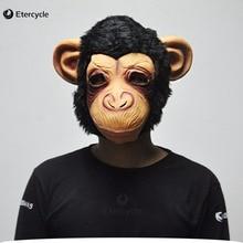 Große Ohren Schimpanse Masken Tier Full Face Latex Maske Partei Cosplay Prop für Halloween
