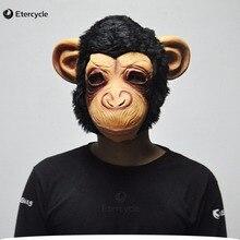 Halloween Animal Latex Big ears Chimp Mask Costume Prop