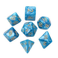 7pcs Polyhedral Dice 16mm Party Dices For Dungeons and Dragons Dice DND RPG Blue Bar Games Gambling Outdoor Dices