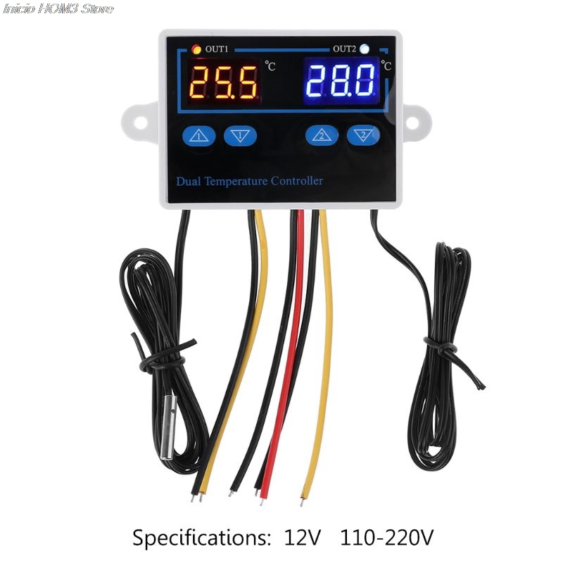 Dual Thermostat For Incubator 10A Digital Heating Cooling Temperature Controller Hot