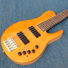 Free shipping Starshine electric guitar  Korean factory ASH body flamed maple top 5 strings the color can choose