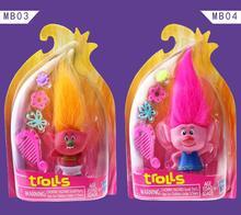 DREAMWORKS Movie Trolls Poppy DJ Suki Guy Diamond Cooper Branch Critter Skitter  PVC Action Figures Toys
