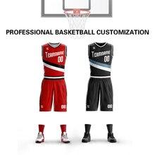 Wholesale Mens Youth Custom Basketball Uniform Kits Sports