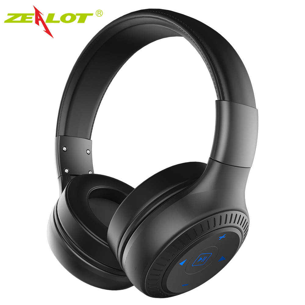 все цены на ZEALOT B20 Stereo Bluetooth Headset HiFi Super Bass Wireless Headphone Handsfree With Microphone For iOS Android Phone онлайн