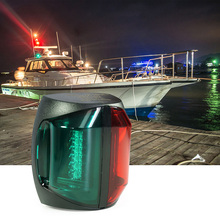 Luz LED de barco marino, luz LED de 12V CC, rojo, verde, 2W, lámpara de luz de navegador de plástico bicolor