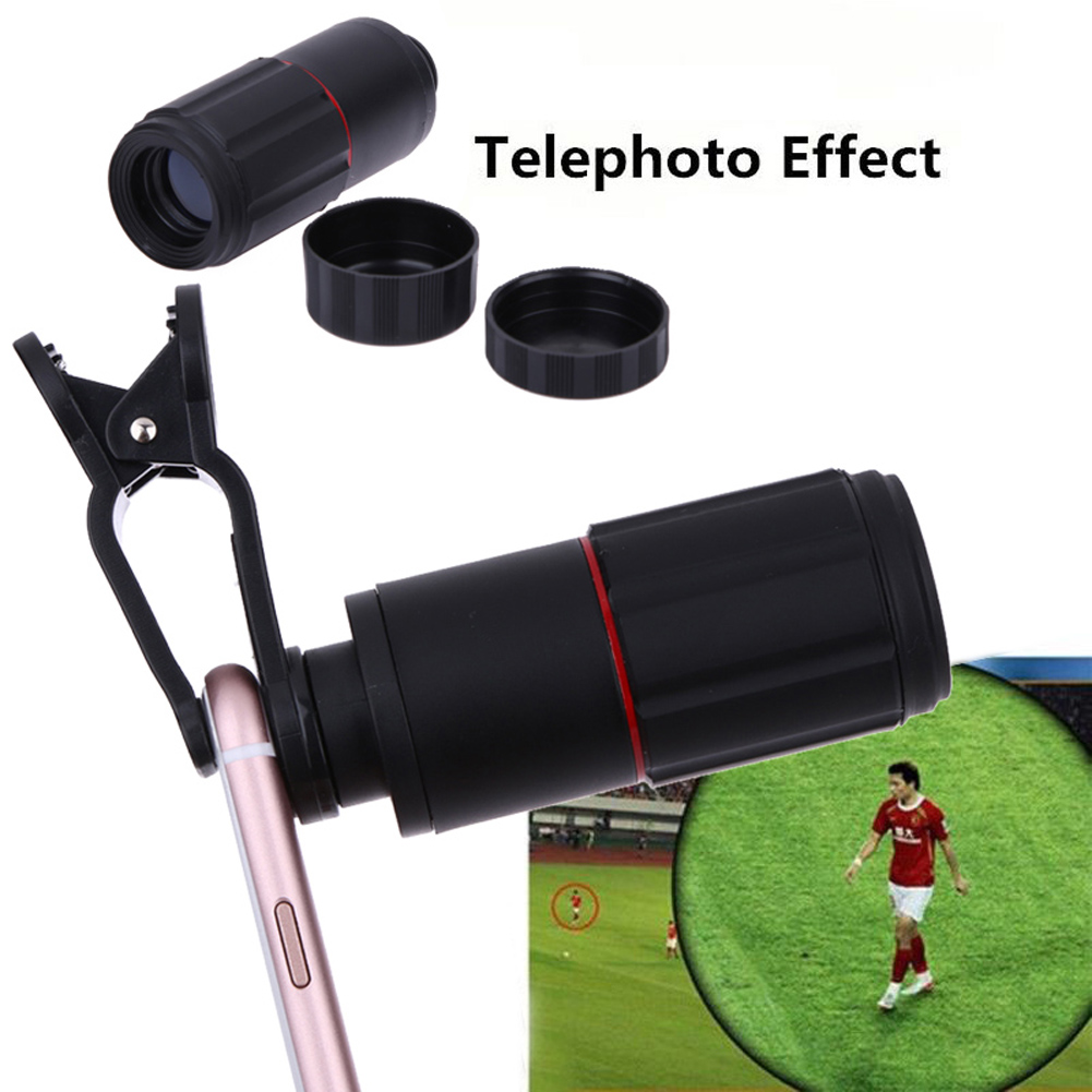 ALLOYSEED Universal 8X Zoom Telescope Telephoto Camera Lens Mobile Phone Lens with Clip for iPhone Samsung Huawei Smarts Phones 4
