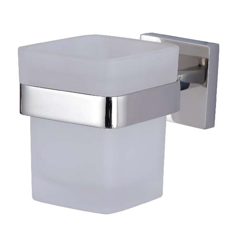Polished Stainless Steel Bathroom Lavatory Single Glass Tumbler Holder Wall Mount In Paper