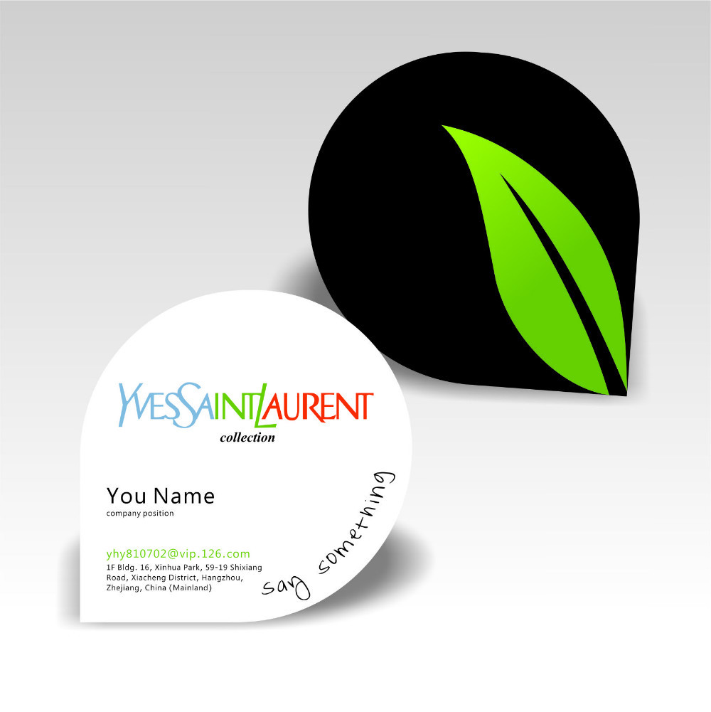 Newest Waterdrop Design Customized Business Card Full Color Print ...
