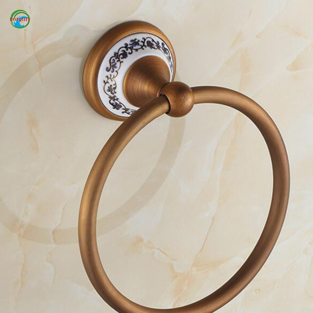 High Quality Wall Mount Towel Ring Solid Brass Construction Antique ...