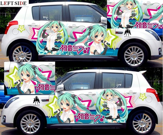 Left side full body car stickers tailor made camouflage diy japanese anime sticker refit accessories