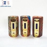 Электронная сигарета Yiloong fogger DNA250 коробка мод комплект vape двойной Встроенный 2*18650 батарея прочная деревянная материал e t