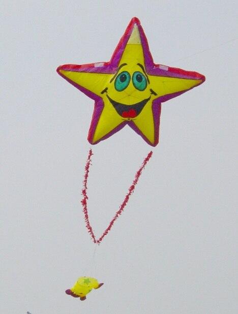 Une seule ligne étoiles logiciel cerfs-volants en nylon ripstop comme cerfs-volants ou cerf-volant gonflable pour le festival de cerf-volant