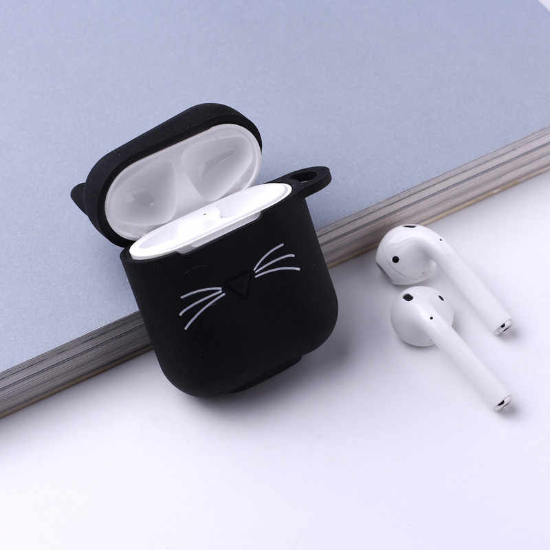 Case Cute Lovely Cat Cartoon Protective Cover Bluetooth Wireless Earphone Case Original for Air Pods Cover