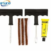 RUISIKIOU Car Tire Repair Tools Kit For Tubeless Emergency Tyre Puncture Plug Repair Block Air Leaking
