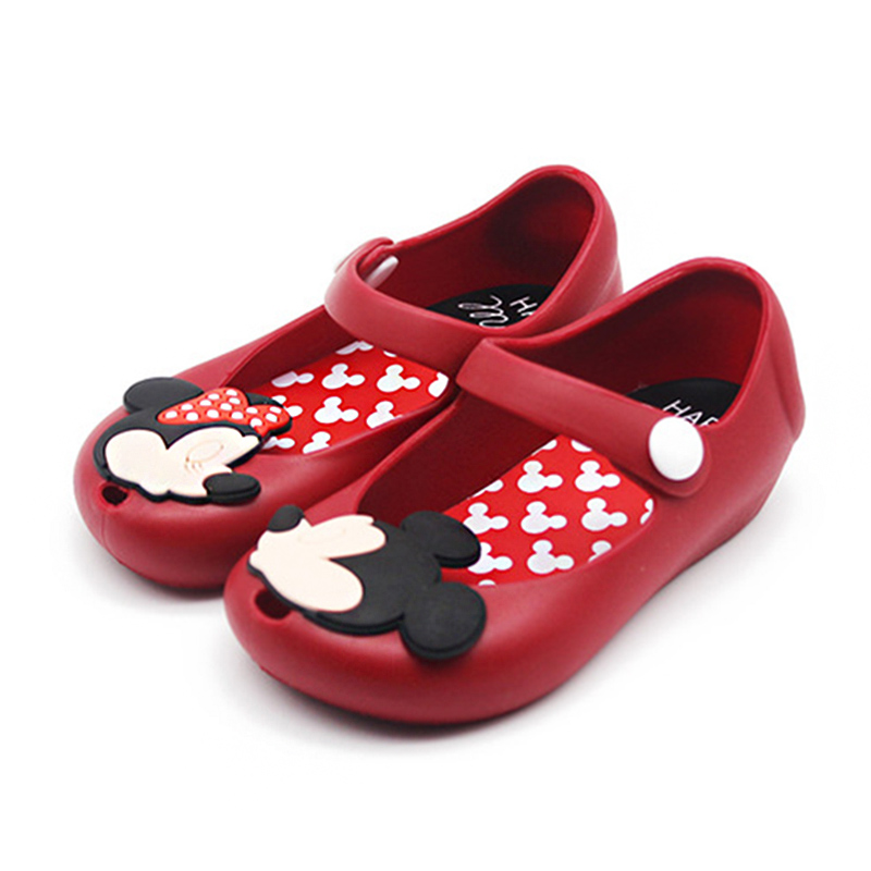 Brand Mini Melissa Cute Cartoon Mouse Girls Jelly Sandals Children Kids Beach Sandals Shoes ...