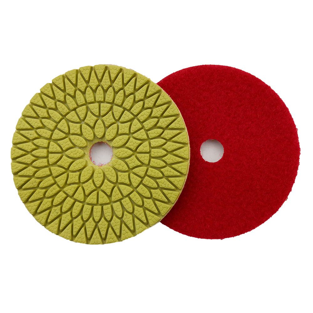 RIJILEI 4 Pcs lot 4Steps Super Marble Polishing Pads 4inch diamond polishing pads for granite Wet Flexible polishing pad WPD06 in Polishing Pads from Tools